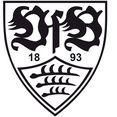 wall-art wandfolie voetbal vfb stuttgart logo (1 stuk) zwart