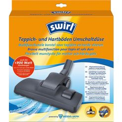 swirl zuigmond swirl omschakelbare zuigmond voor vloerbedekking en harde vloeren (set, 2-delig) zwart