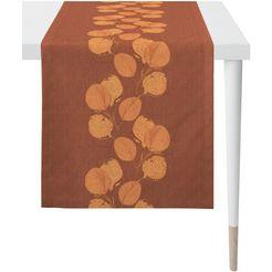 apelt tafelloper 2717 loft style, jacquard (1 stuk) oranje