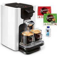 senseo koffiepadautomaat quadrante hd7865-00, inclusief gratis toebehoren ter waarde van € 14,- wit