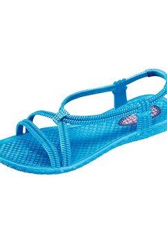 casual looks sandaaltjes blauw