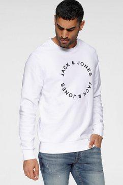 jack  jones sweatshirt »circle flock sweat« wit