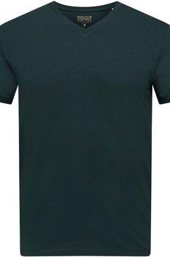 esprit t-shirt met v-hals groen