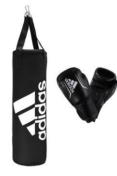 adidas performance stootzak junior boxing set (set) zwart