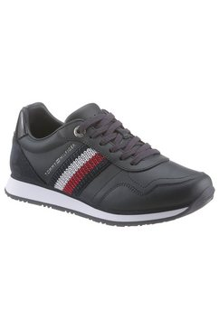 tommy hilfiger sneakers »tommy leather low runner« blauw