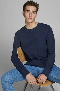 jack  jones sweatshirt »jjeholmen sweat« blauw