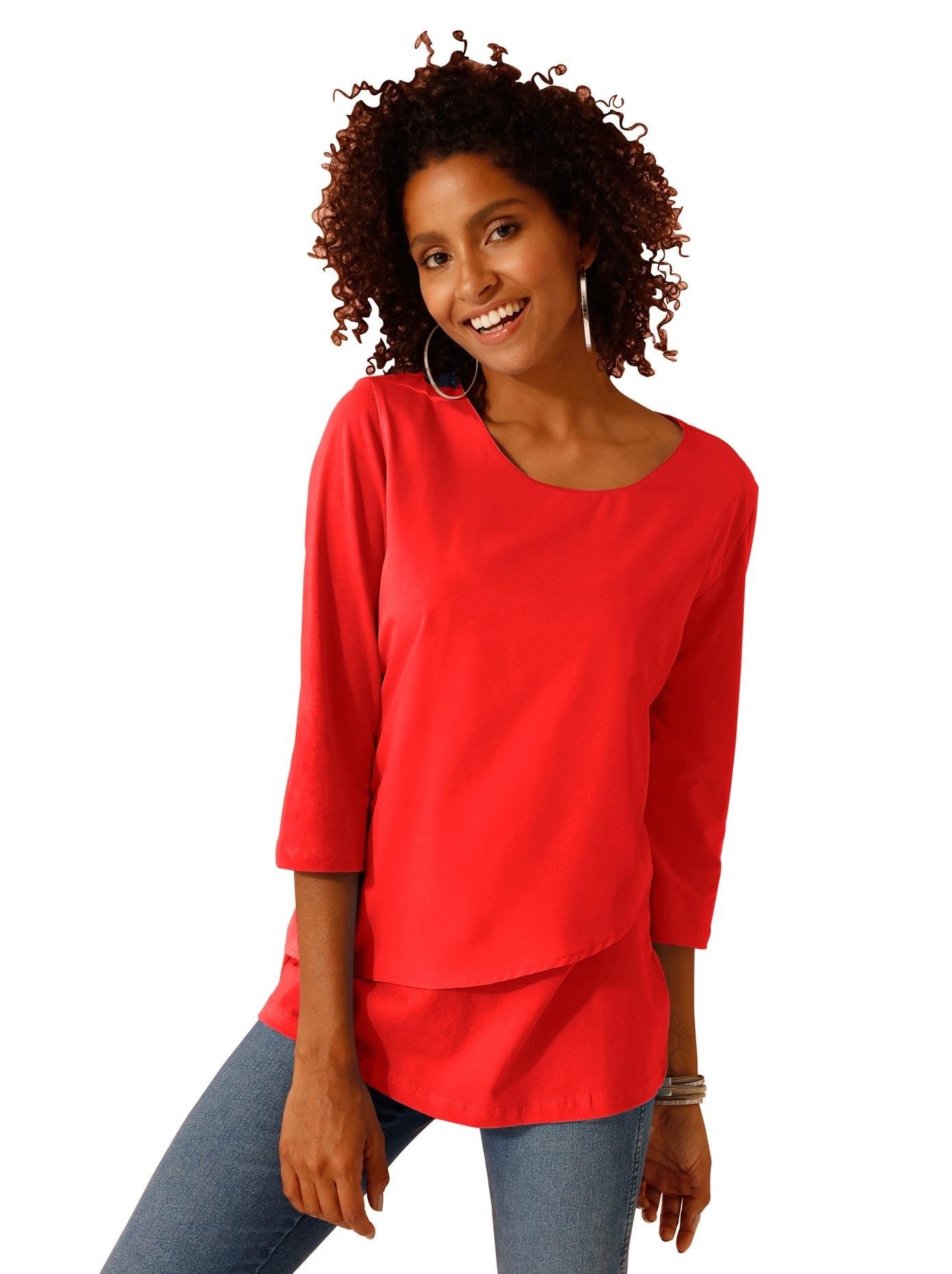 Classic Basics Shirt met 3/4-mouwen voordelig en veilig online kopen