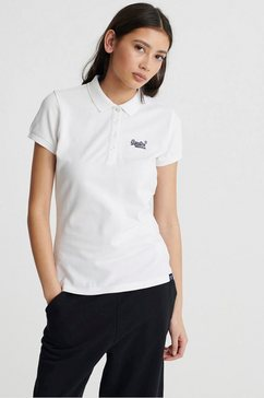 superdry poloshirt »scripted polo tee« wit