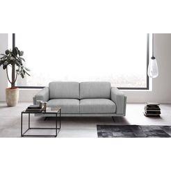 places of style 2-zitsbank randen modern design in twee stofkwaliteiten grijs