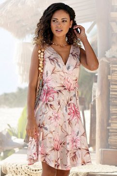 s.oliver beachwear gedessineerde jurk roze