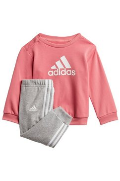 adidas performance joggingpak »badge of sport french terry« roze