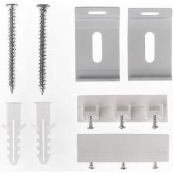 lichtblick montageset voor raamdecoratie (8 stuks) zilver