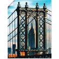 artland artprint new york manhattan bridge in vele afmetingen  productsoorten -artprint op linnen, poster, muursticker - wandfolie ook geschikt voor de badkamer (1 stuk) blauw