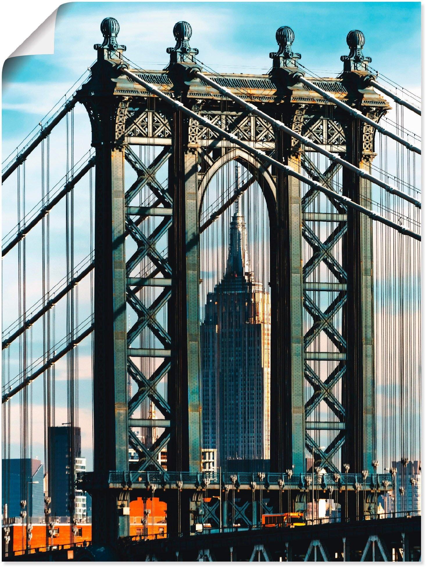 Artland artprint New York Manhattan Bridge in vele afmetingen & productsoorten -artprint op linnen, poster, muursticker / wandfolie ook geschikt voor de badkamer (1 stuk) nu online kopen bij OTTO