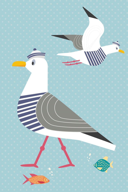 queence artprint op acrylglas Meeuwen en vissen nu online kopen bij OTTO