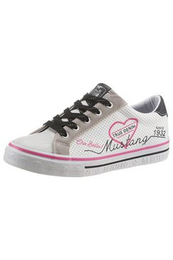 mustang shoes sneakers met modieuze print wit