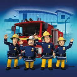 boenninghoff artprint op linnen spieraam brandweerman sam ca.35x35 cm (1 stuk) blauw