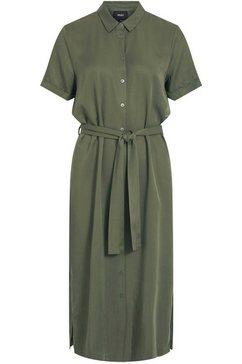 object blousejurkje objtilda isabella met een bindceintuur groen