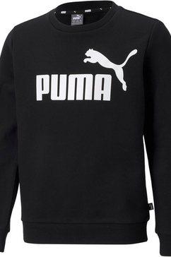 puma sweatshirt big logo crew zwart