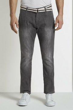 tom tailor comfort fit jeans »josh regular slim chino-jeanshose« grijs