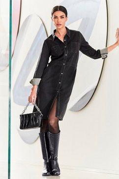 rick cardona by heine jeansjurk jeans jurk zwart