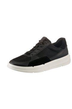 ecco sneakers soft x met witte loopzool zwart