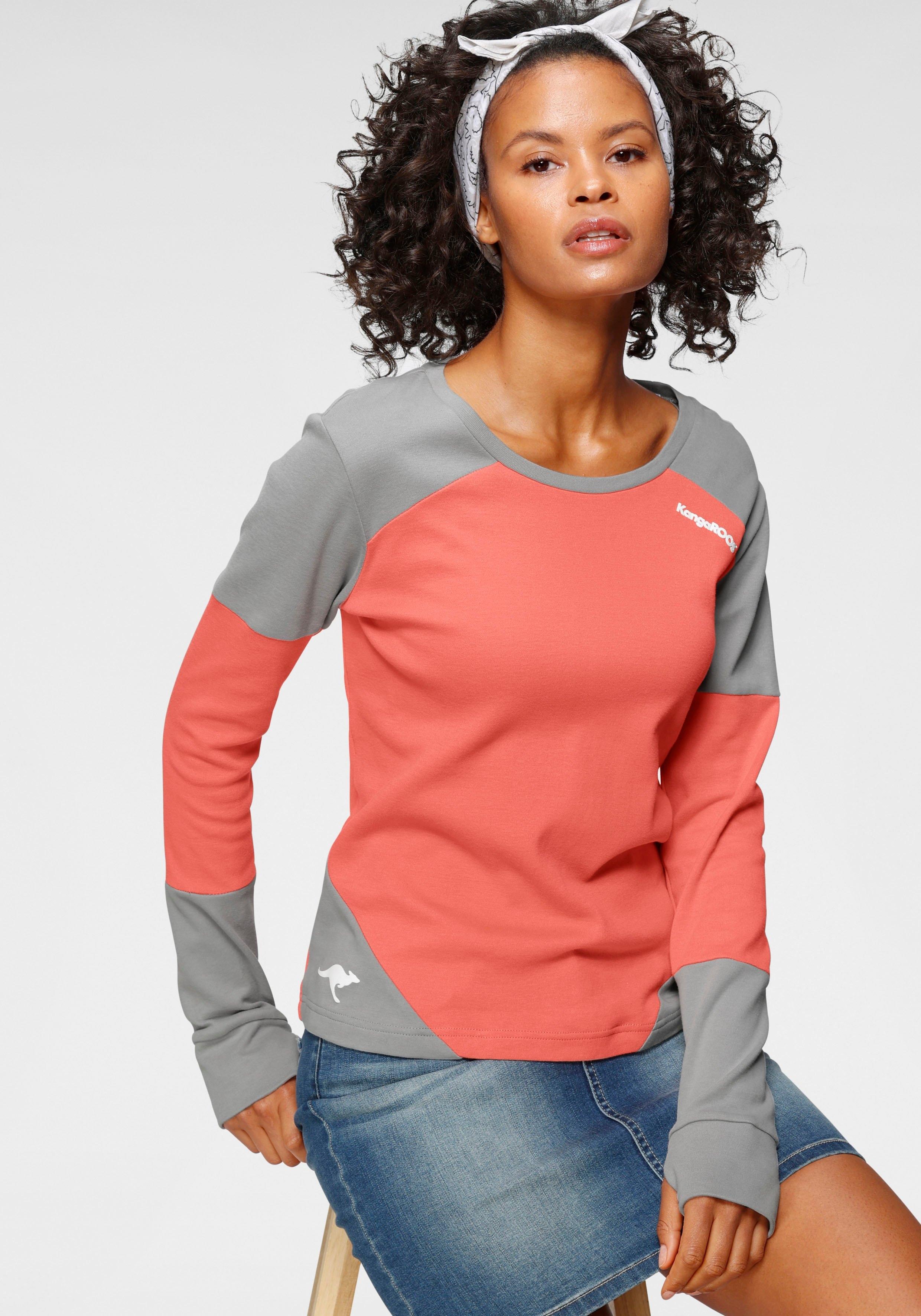 KangaROOS sweatshirt in modieuze colourblocking nu online bestellen