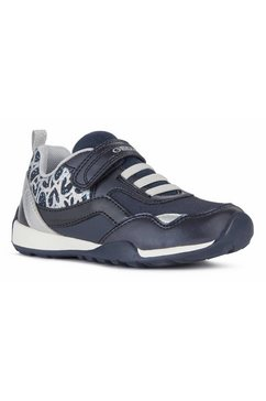 geox kids sneakers jocker plus girl met leuke metallic-details blauw