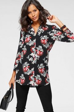 laura scott lange blouse zwart