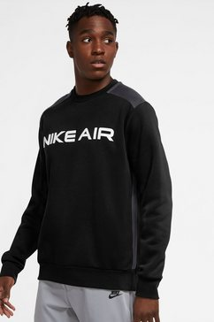 nike sweatshirt »nike air men's fleece crew« zwart