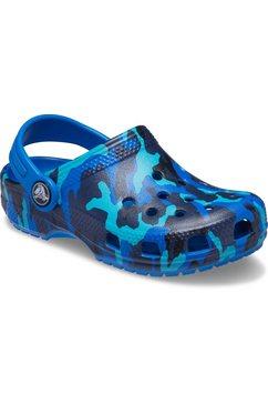 crocs clogs classic printed clog k blauw