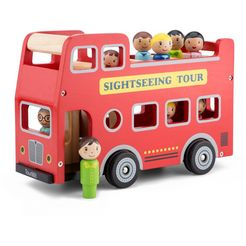 new classic toys speelgoed-bus rood