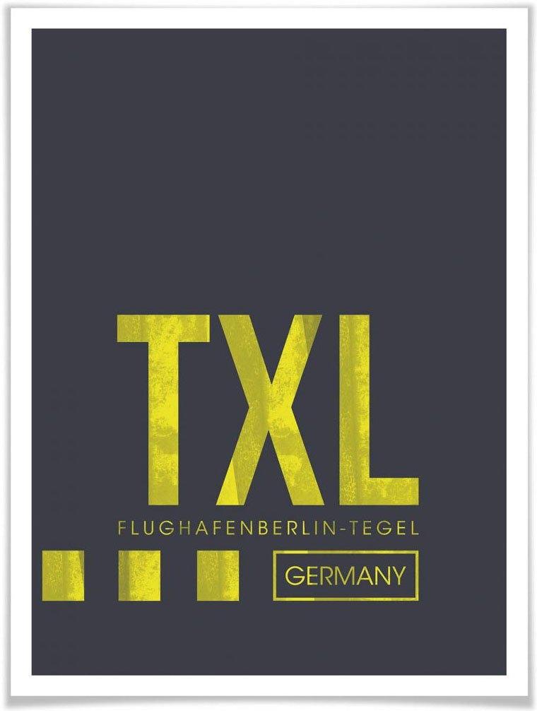 Wall-Art poster Artprint TXL luchthaven Berlijn Poster, artprint, wandposter (1 stuk) bestellen: 30 dagen bedenktijd