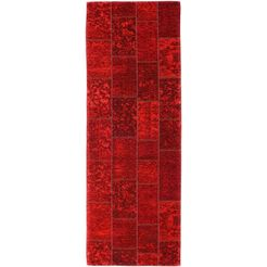 loper, »alanis allover«, oci die teppichmarke, rechthoekig, hoogte 5 mm, machinaal geweven rood