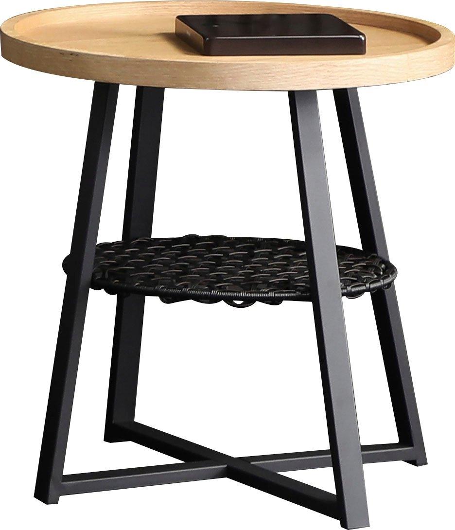 SalesFever bijzettafeltje Legplank onder het tafelblad van metalen frame en polyrotan - gratis ruilen op otto.nl