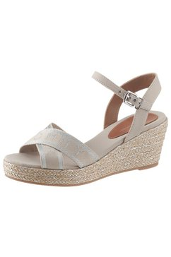 tommy hilfiger sandaaltjes »tommy metallic mid wedge sandal« grijs