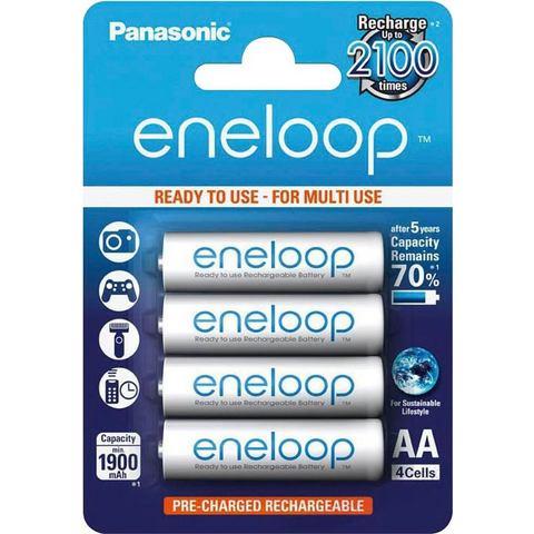 Panasonic 1x4 Panasonic Eneloop Mignon AA 1900 mAh (BK-3MCCE-4BE)