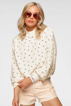 levi's sweatshirt met hoog afsluitende kraag wit