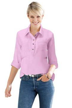classic basics flanellen blouse roze