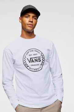 vans longsleeve »authentic checker ls« wit