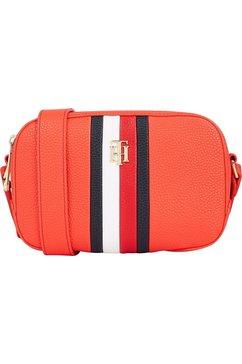 tommy hilfiger mini-bag th essence camera bag corp met contraststrepen oranje