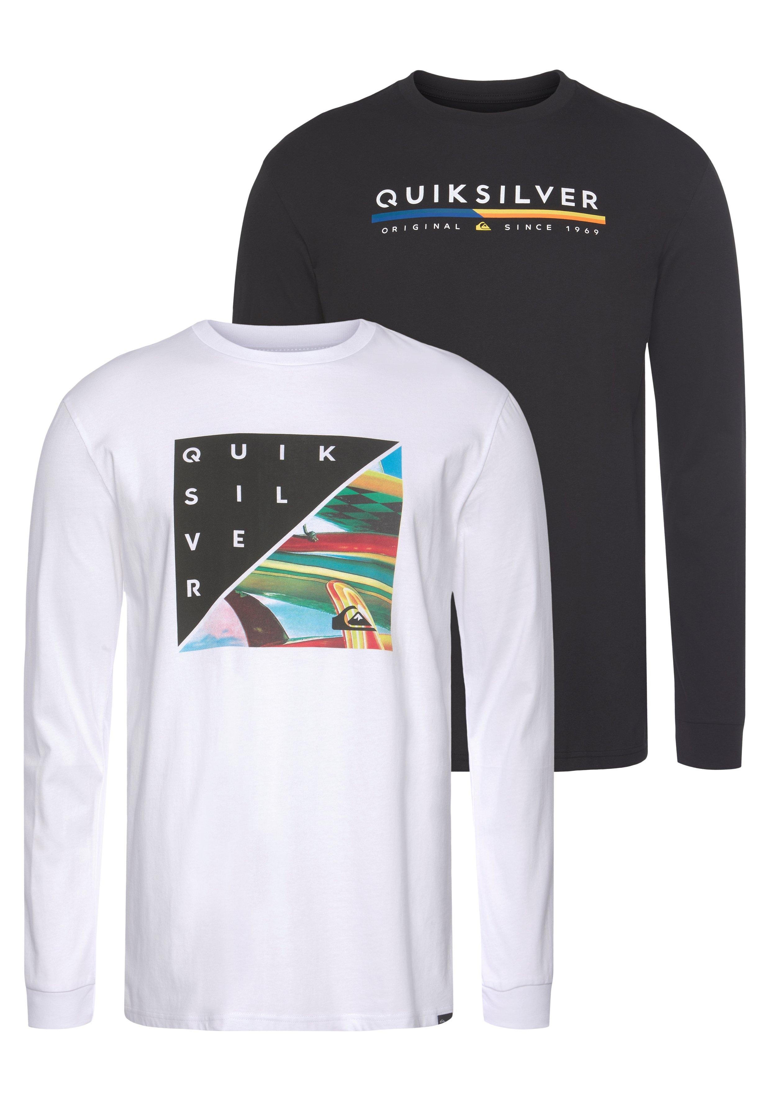 Quiksilver shirt met lange mouwen RETRO STACK RETHIN PACK (set, Set van 2) bestellen: 30 dagen bedenktijd