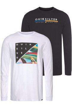 quiksilver shirt met lange mouwen »retro stack rethin pack« (set van 2) wit