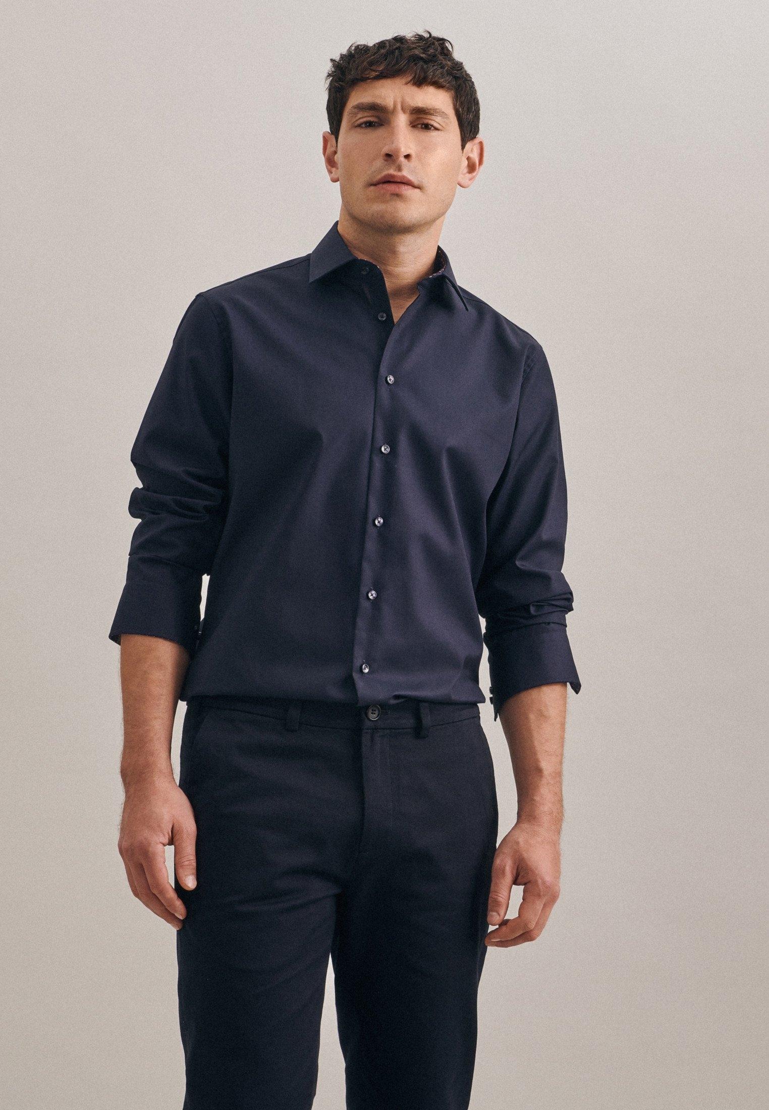 Op zoek naar een seidensticker businessoverhemd Shaped Shaped lange mouwen kentkraag uni? Koop online bij OTTO