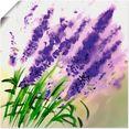 artland artprint lavendel-aquarel in vele afmetingen  productsoorten -artprint op linnen, poster, muursticker - wandfolie ook geschikt voor de badkamer (1 stuk) paars