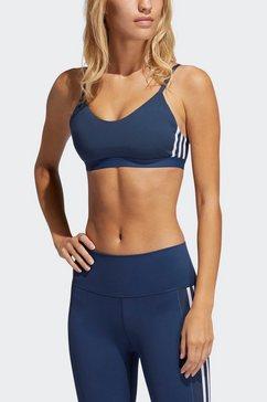 adidas performance sport-bh »am 3 stripes bra« blauw