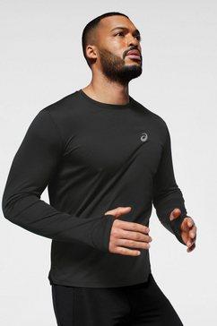 asics runningshirt »silver longsleeve top« zwart