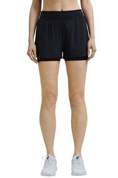 esprit sports 2-in-1-short zwart