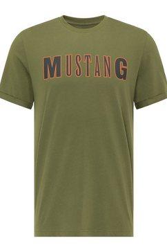 mustang t-shirt »alex c logo tee« groen