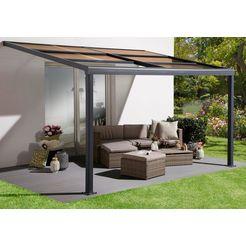 konifera terrasdak »anker«, aluminium, bxd: 400x300 cm grijs